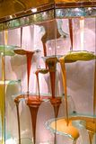 Las Vegas, United States of America - May 05, 2016: The chocolate fountain at luxury hotel Bellagio. At Las Vegas, United States of America royalty free stock images