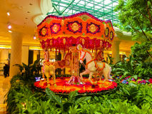 Las Vegas, United States of America - May 06, 2016: Flowers installation at the Wynn Hotel and casino Royalty Free Stock Photo