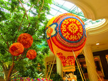 Las Vegas, United States of America - May 06, 2016: Flowers installation at the Wynn Hotel and casino Royalty Free Stock Images