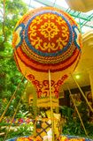 Las Vegas, United States of America - May 06, 2016: Flowers installation at the Wynn Hotel and casino. In Las Vegas. The installation made of 110,000 flowers Royalty Free Stock Images