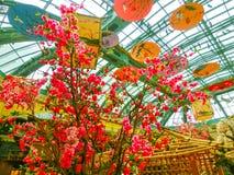 Las Vegas, United States of America - May 05, 2016: The Japanese flowering garden at luxury hotel Bellagio. At Las Vegas, United States of America stock photos