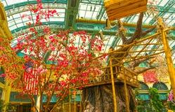 Las Vegas, United States of America - May 05, 2016: The Japanese flowering garden at luxury hotel Bellagio. At Las Vegas, United States of America stock photography