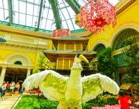 Las Vegas, United States of America - May 05, 2016: The Japanese flowering garden at luxury hotel Bellagio. Las Vegas, United States of America - May 05, 2016 royalty free stock photo