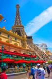 Las Vegas, United States of America - May 05, 2016: Replica Eiffel Tower in with clear blue sky. Las Vegas, United States of America - May 05, 2016: Replica royalty free stock photo
