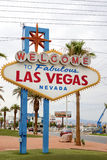 Las Vegas- United States, July 9, 2014: Fabulous Vegas - Welcome. To Fabulous Las Vegas in Nevada State. Las Vegas Strip Entrance Sign in Las Vegas in July 9 Royalty Free Stock Photo