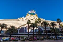 Las Vegas, US - 27. April 2018: Das berühmte Harrahs-Hotel und der cas Lizenzfreie Stockfotografie