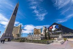 Las Vegas, US - April 26, 2018: The famous Luxor pyramid hotel i. N Las Vegas royalty free stock images
