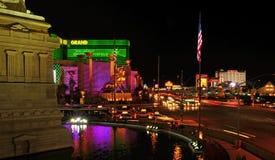 Las Vegas remsa på natten, Las Vegas, United States arkivbild