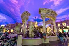 Las Vegas, USA - 28 avril 2018 : Le foutain intérieur des dieux Image stock