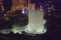LAS VEGAS, USA - The Bellagio Fountains at night Royalty Free Stock Images