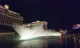 LAS VEGAS, USA - The Bellagio Fountains at night Stock Image