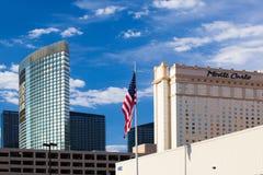 Las Vegas USA - JULI 7, 2011: Aria Resort och kasino i Las Vega Arkivfoto