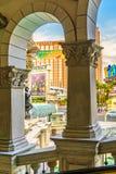 Las Vegas USA - Juli, sikt 2016 av den Las Vegas remsan i Nevada USA Arkivfoton