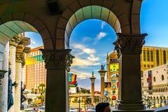 Las Vegas USA - Juli, sikt 2016 av den Las Vegas remsan i Nevada USA Arkivbilder