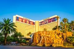 Las Vegas USA - Juli, sikt 2016 av den Las Vegas remsan i Nevada USA Arkivfoto