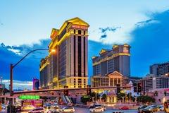 Las Vegas USA - Juli, sikt 2016 av den Las Vegas remsan i Nevada USA Fotografering för Bildbyråer