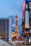 Las Vegas USA - Juli, sikt 2016 av den Las Vegas remsan i Nevada USA Royaltyfria Bilder