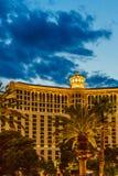 Las Vegas USA - Juli, sikt 2016 av den Las Vegas remsan på natten i Nevada USA Royaltyfri Foto