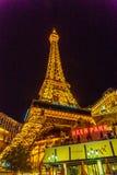 Las Vegas USA - Juli, sikt 2016 av den Las Vegas remsan på natten i Nevada USA Royaltyfri Fotografi