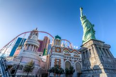 Las Vegas, USA - Kwiecień 27, 2018: Statuy Wolności replika przy obraz stock