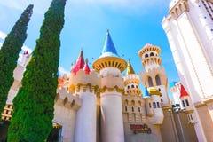 Las Vegas USA - Maj 04, 2016: Excalibur hotell och kasino in, Nevada Arkivfoto