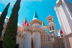 Las Vegas USA - Maj 04, 2016: Excalibur hotell och kasino in, Nevada Fotografering för Bildbyråer