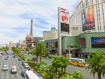 Las Vegas USA - Maj 05, 2016: Ovannämnd jordsikt av remsahotellsemesterorter och kasino Royaltyfri Fotografi