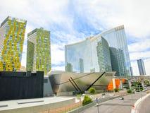 Las Vegas USA - Maj 05, 2016: Ovannämnd jordsikt av remsahotellsemesterorter och kasino Royaltyfria Bilder