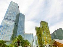 Las Vegas USA - Maj 05, 2016: Ovannämnd jordsikt av remsahotellsemesterorter och kasino Arkivbild