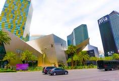 Las Vegas USA - Maj 05, 2016: Sikten av remsahotellsemesterorter och kasino Arkivfoto