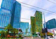 Las Vegas USA - Maj 05, 2016: Sikten av remsahotellsemesterorter och kasino Royaltyfri Foto