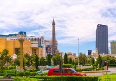 Las Vegas USA - Maj 05, 2016: Sikten av remsahotellsemesterorter och kasino Royaltyfri Fotografi
