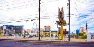 Las Vegas USA - Maj 05, 2016: Sikten av remsahotellsemesterorter och kasino Arkivbild