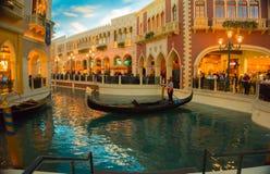 Las Vegas, usa - Maj 06, 2016: Wenecki kasyno i hotel w kurorcie Obrazy Royalty Free