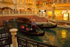 Las Vegas, usa - Maj 06, 2016: Wenecki kasyno i hotel w kurorcie Obraz Stock