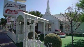 LAS VEGAS, USA - MAY 13, 2019: Little wedding chapel stock footage