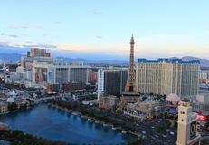 Las Vegas. USA, MAY 16:  at sunset as seen from the Cosmopolitan Hotel on May 16 2011 Stock Photography