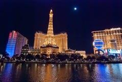 LAS VEGAS, USA - Night Panorama of Las Vegas Boulevard Royalty Free Stock Photography