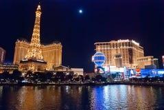 LAS VEGAS, USA - Night Panorama of Las Vegas Boulevard Stock Photos