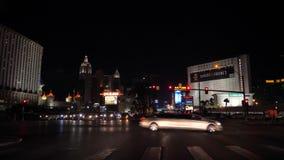 Las Vegas, USA-November 07,2017: traffic cars on boulevard casino at night stock footage
