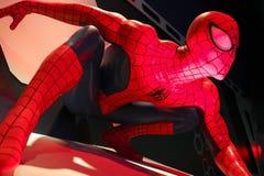 Close up Spiderman. LAS VEGAS, USA - Oct 10, 2017: Close up Spiderman, Madame Tussauds museum in Las Vegas stock photos