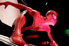 Close up Spiderman. LAS VEGAS, USA - Oct 10, 2017: Close up Spiderman, Madame Tussauds museum in Las Vegas royalty free stock image