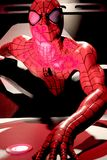 Close up Spiderman. LAS VEGAS, USA - Oct 10, 2017: Close up Spiderman, Madame Tussauds museum in Las Vegas royalty free stock photography