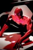 Close up Spiderman. LAS VEGAS, USA - Oct 10, 2017: Close up Spiderman, Madame Tussauds museum in Las Vegas royalty free stock photo