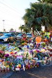 Dedicated flower bed of the Las Vegas Shooting victims Stock Image
