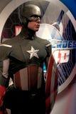 A waxwork of Captain America. LAS VEGAS,USA - OCT 09 : A waxwork of Captain America on display at Madame Tussaud`s on October 09 2017 in Las Vegas USA Stock Photo