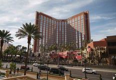 LAS VEGAS, usa - OKOŁO LISTOPAD, 2017: Skarb wyspa kasynowy Las Vegas w świetle dziennym zdjęcia stock