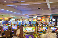 Las Vegas- USA, September, 30: People Playing in One of the Casi Stock Image