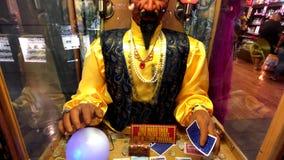 Zoltar fortune teller machine in casino. Las Vegas, USA - September 10, 2018: Zoltar fortune teller machine in casino stock video footage