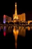 Las Vegas uteliv längs den berömda remsan Arkivfoton